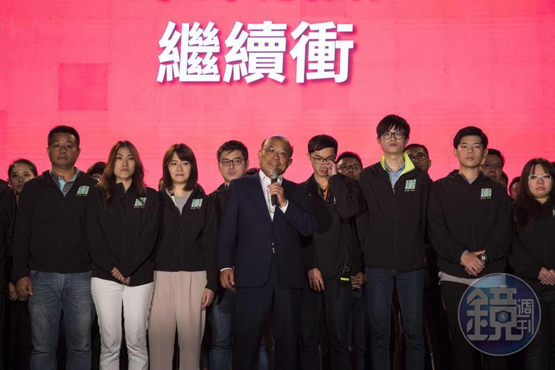 蘇貞昌在新北市長選舉中落敗,不過他自認這次選得很努力,所以不會說自己努力不夠。