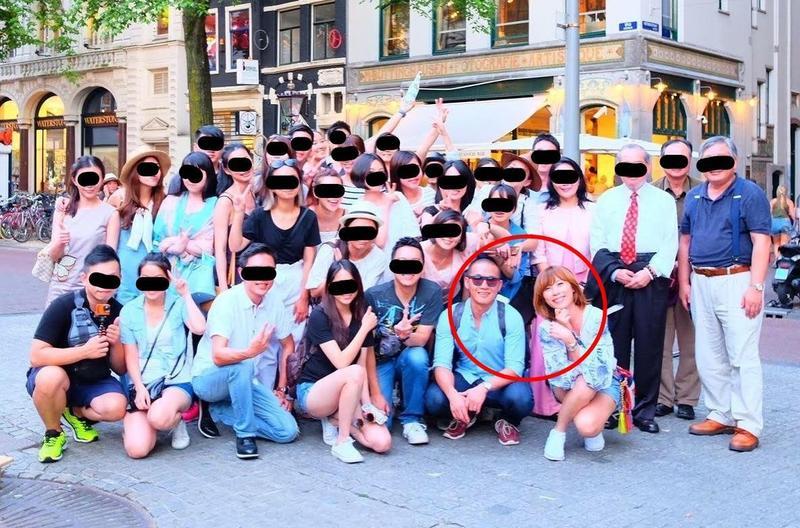 黃博健被爆料生活豪奢,圖為出國員工旅遊。(翻攝畫面)