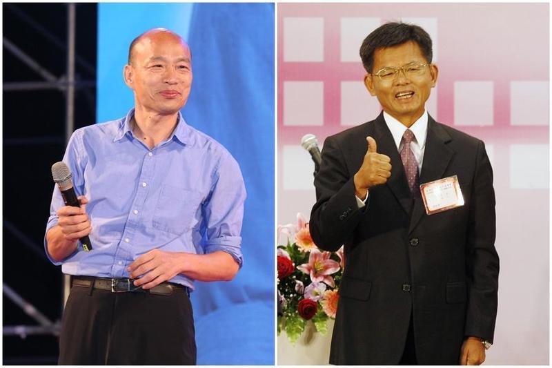高雄市長當選人韓國瑜表示目前確定的副市長僅葉匡時,其他人選將陸續公布。(右圖中央社)