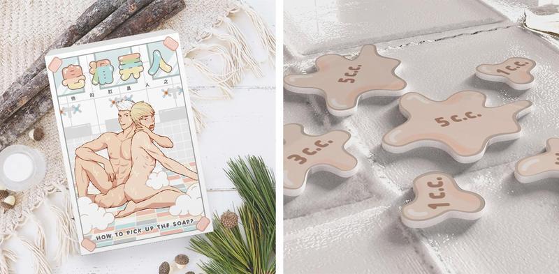 《皂滑弄人》桌遊不只衛教了一套套男同志的性姿勢,也教導玩家相關的性知識。(工具時代提供)