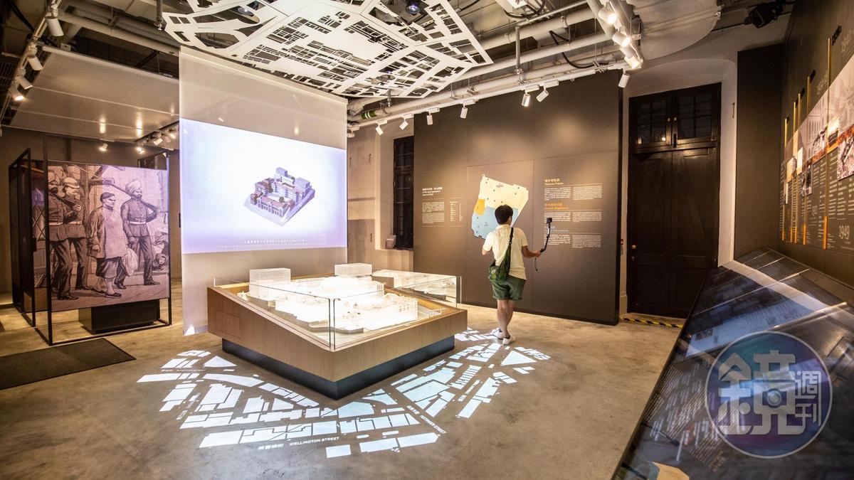 第一次來大館,可以先到訪客中心旁的「歷史故事空間」。