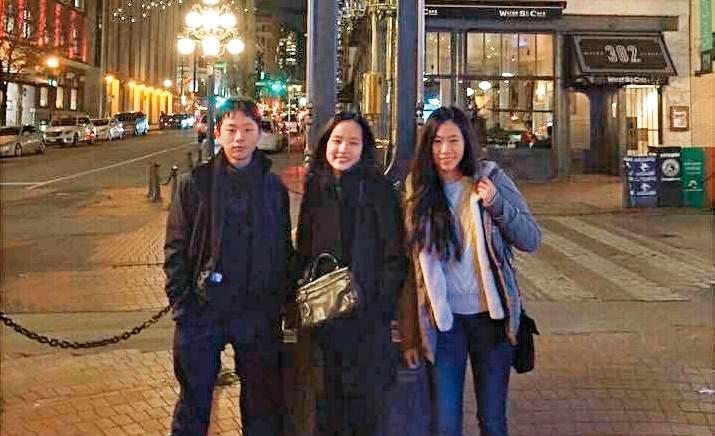 韓國瑜膝下有2女1子,都因這次選戰獲得注目。姐弟目前都在加拿大求學。左起韓天、韓冰、韓青。(翻攝自韓青臉書)