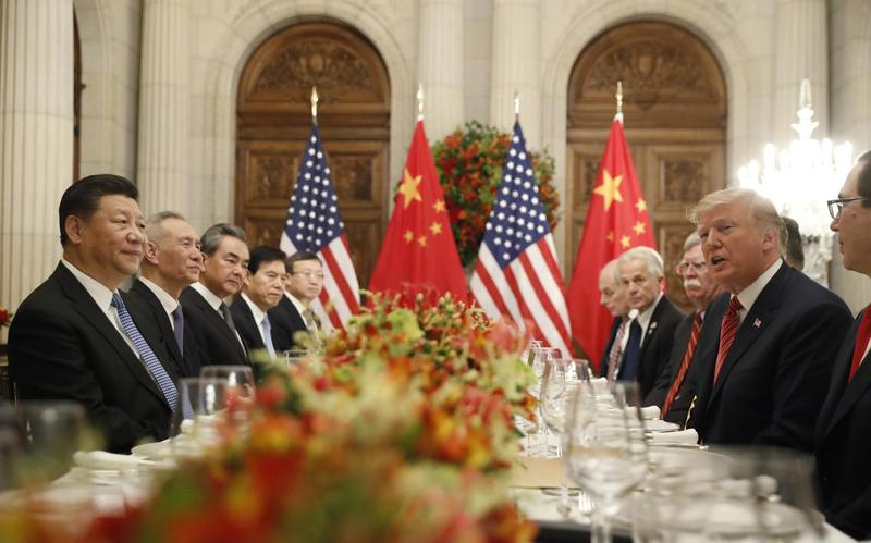 川習會決定貿易戰停火90天,代表美國對中國留校察看?(達志影像)