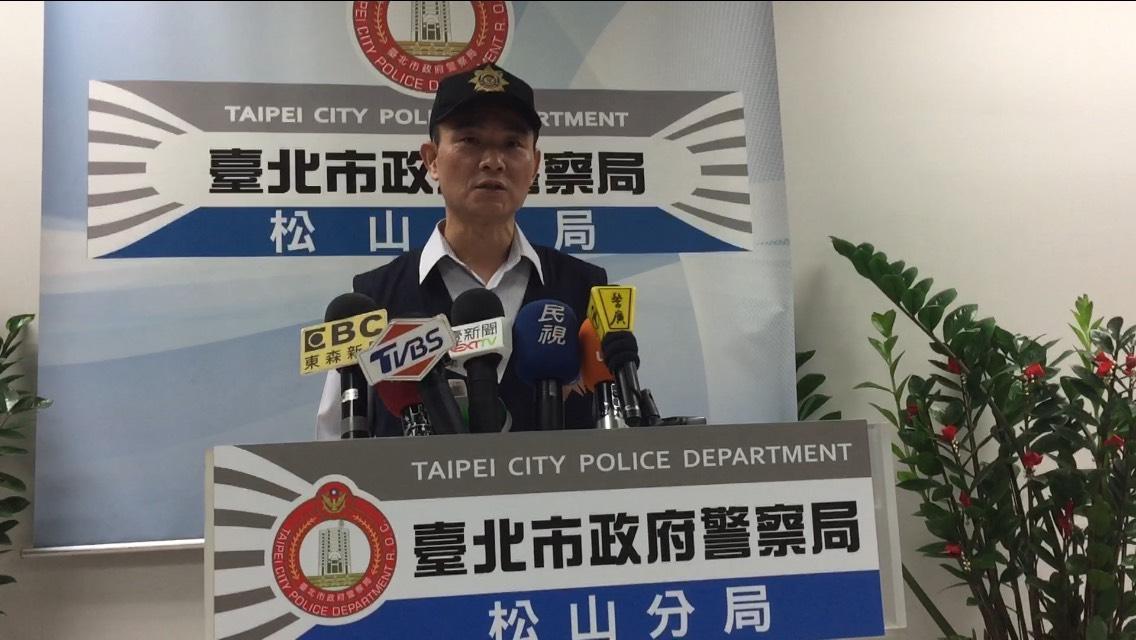 松山分局偵查隊長吳坤安表示將持續查緝詐騙案件以維社會治安。(警方提供)