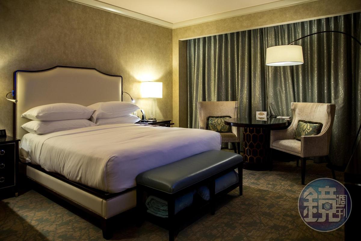 飯店內房間寬敞,空間非常舒適。