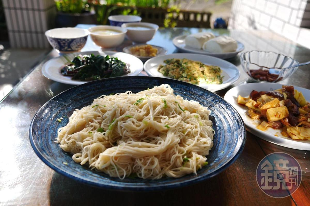 不論是幾位住客,民宿女主人都會準備3至4種菜色的早餐。