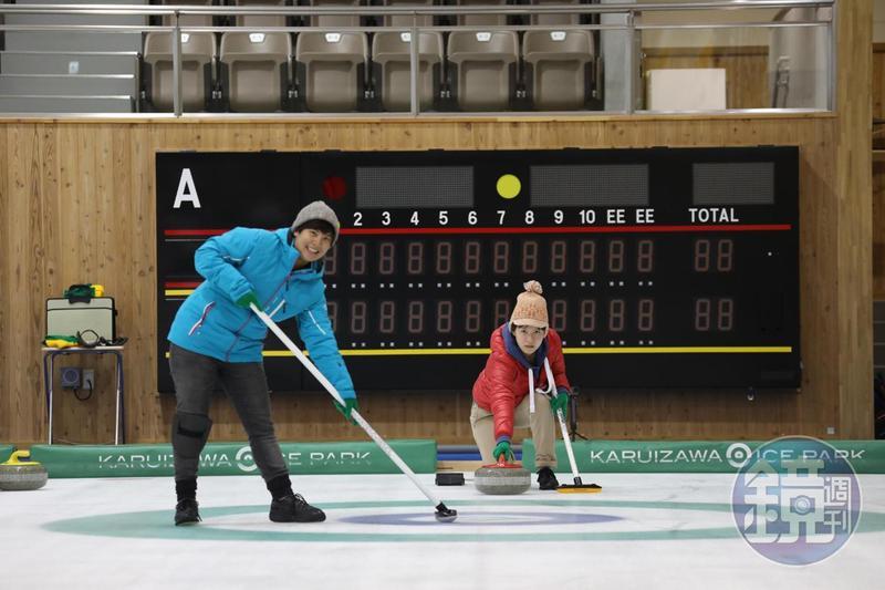 在「風越公園」可以報名冬季奧運比賽項目「冰壺」的體驗課程。