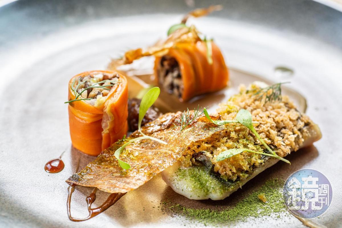 今年野臺繫主題為雲嘉南物產,大廚們把南部小吃重組成法式餐點。