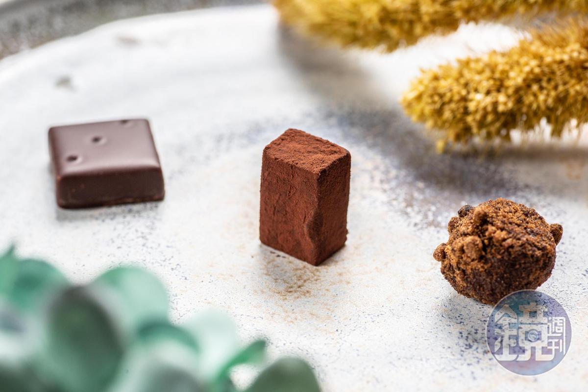 「畬室法式巧克力甜點創作」創辦人暨主廚鄭畬軒的台灣巧克力。