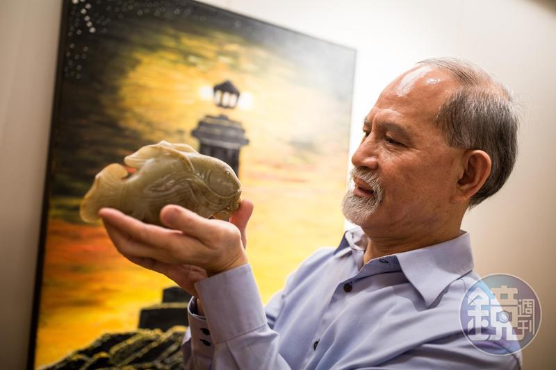 顏元博一生與魚為伍,現在醉心古代玉魚收藏。