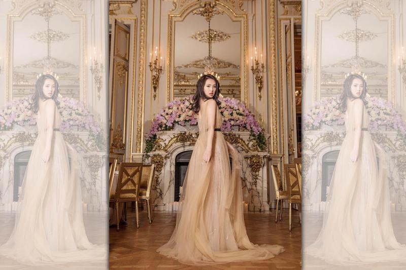 華為二公主Annabel Yao現身巴黎名媛舞會。(翻攝自Annabel Yao的IG)