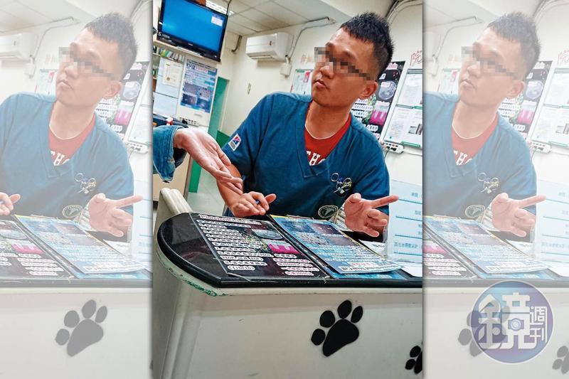 本刊直擊,李姓獸醫師滔滔不絕兜售以血犬血液製成的PRF製劑。