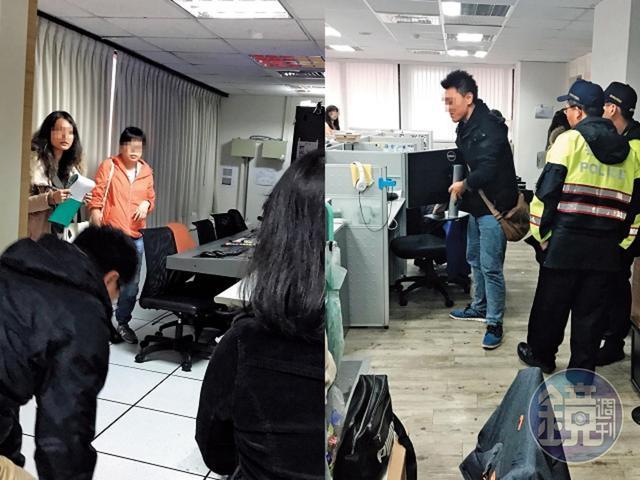 去年11月時,澳亞衛視副控室內的員工,看到執行官前來查封感到意外。(讀者提供)
