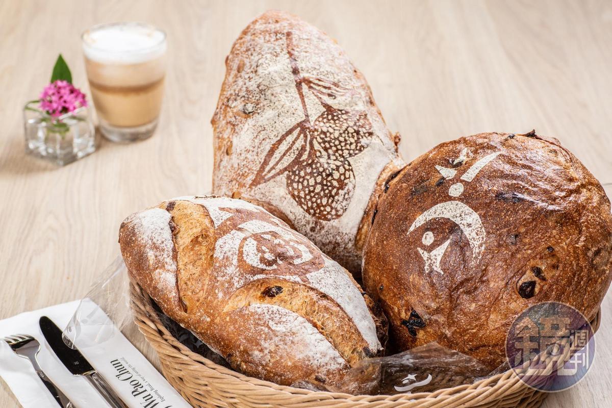 獲得世界麵包大賽的三款冠軍麵包。