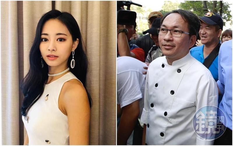 網紅呱吉拿周子瑜(左)與吳寶春(右)比較,強調吳曾以「台灣之光」身分說出「不會只專注1中國13億人市場,會放眼全世界70億。」已向我們的社會提款。(翻攝自TWICE IG/本刊照片)