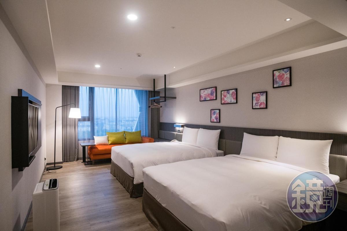 「煙波大飯店宜蘭館」240間客房,多數是適合小家庭的4人房。