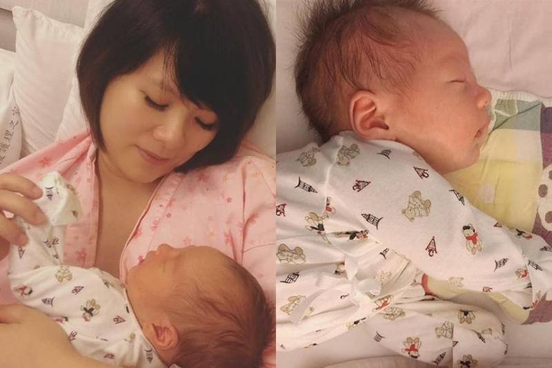 蘇打綠貝斯手馨儀昨(13日)在IG報喜,兒子「小堅果」上個月已經出生。(翻攝自謝馨儀IG)