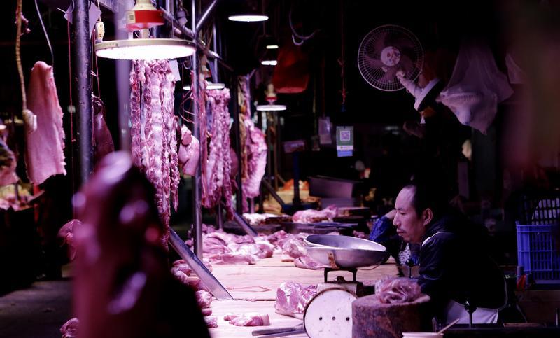 大陸非洲豬瘟疫情持續爆發,由於病毒耐酸又耐高溫,肉品就算經加工處理都能存活至少140天。(東方IC)