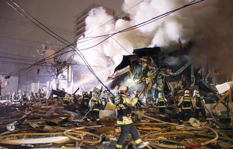 北海道札幌市一間居酒屋昨晚8點半左右發生爆炸,造成42人受傷。(東方IC)