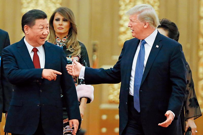 貿易戰對美國是短空長多,所以在經濟面幾乎確定放緩的情況下,川習大和解的戲碼應難見到。(達志影像)