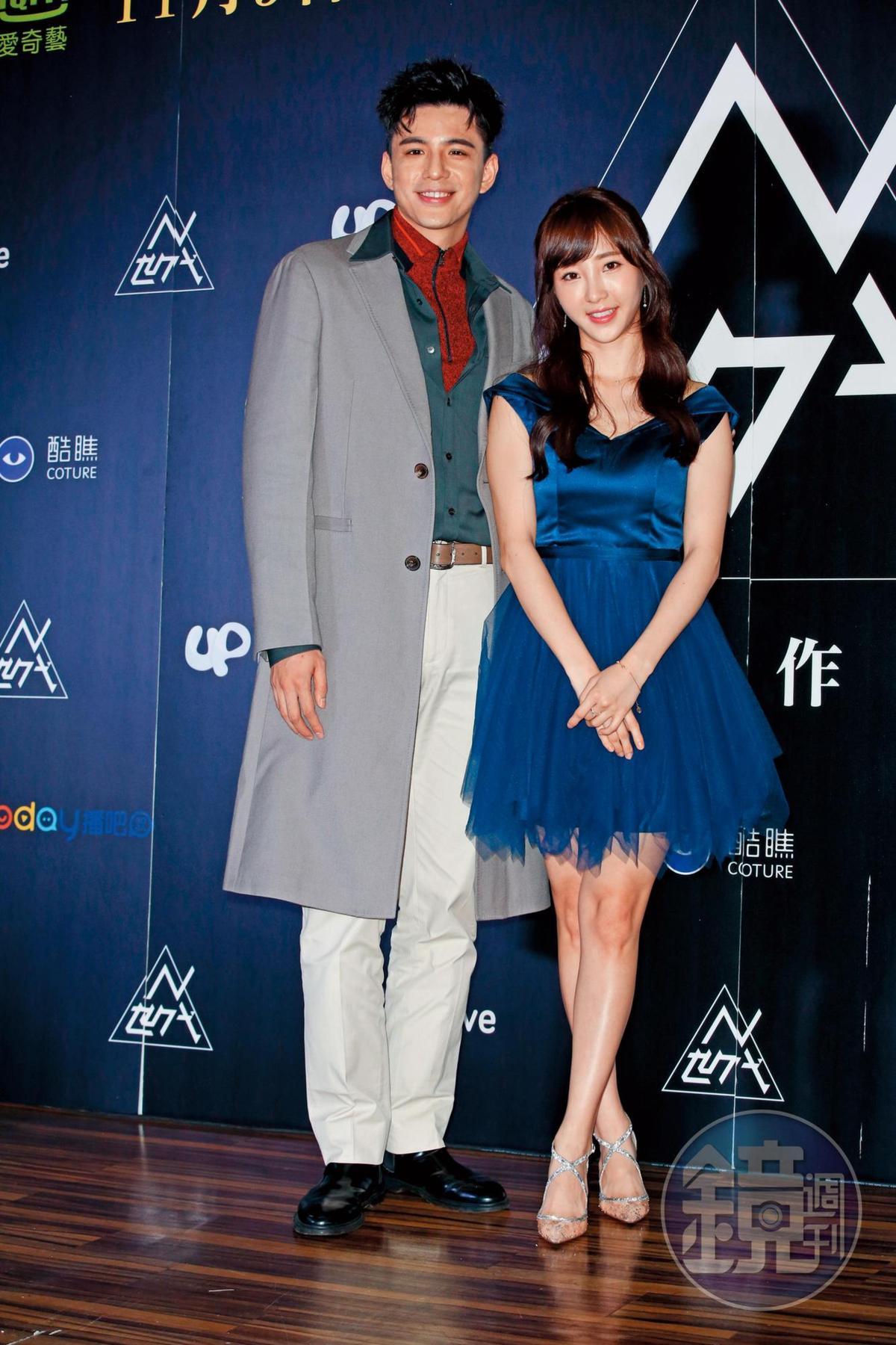 近期工作量不多的林柏叡,與小茉莉陳瑀希(右)合作網劇《N世代》。