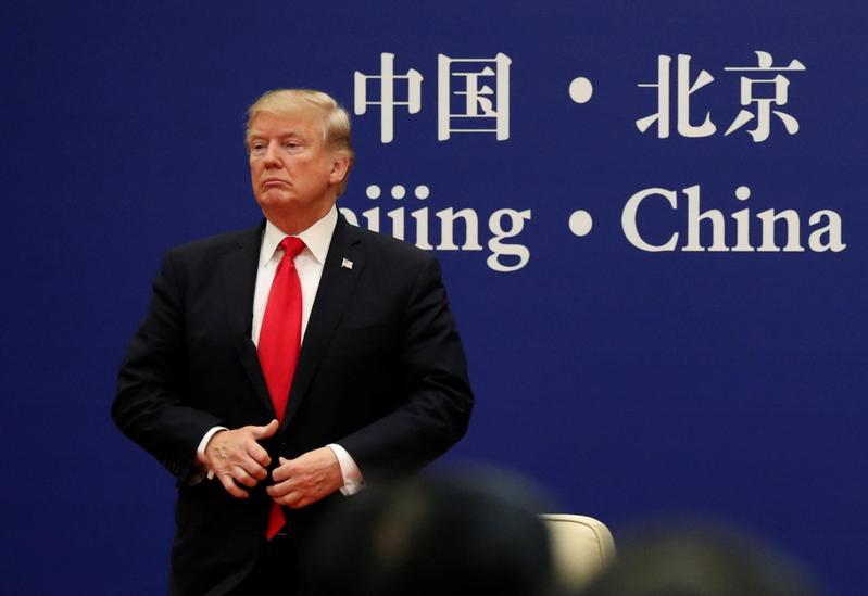施崇棠談及中美貿易戰,盼外界不要再罵川普、怪川普。(達志影像)