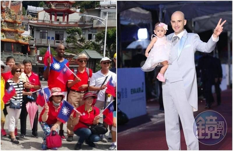 吳鳳(右)、戴維斯(左)等5位新台灣人將在元旦升旗典禮領唱國歌。(左圖取自戴維斯IG)