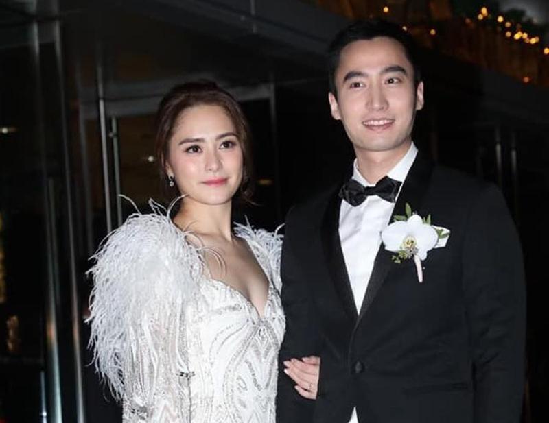 鍾欣潼今日與老公賴弘國在香港舉行婚宴。(鍾欣潼臉書)