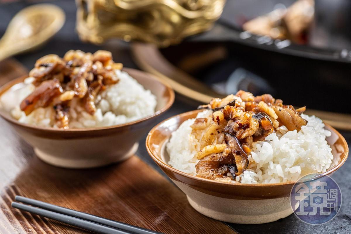 「麻辣滷肉飯」用的是台梗九號米,免費無限供應。