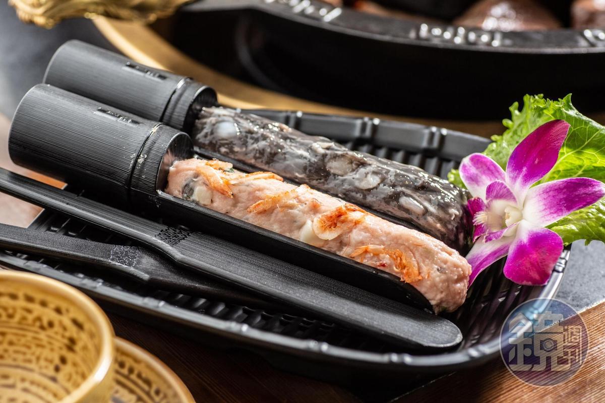 「手工綜合滑」提供墨魚花枝和櫻花蝦2款口味。(200元/份)