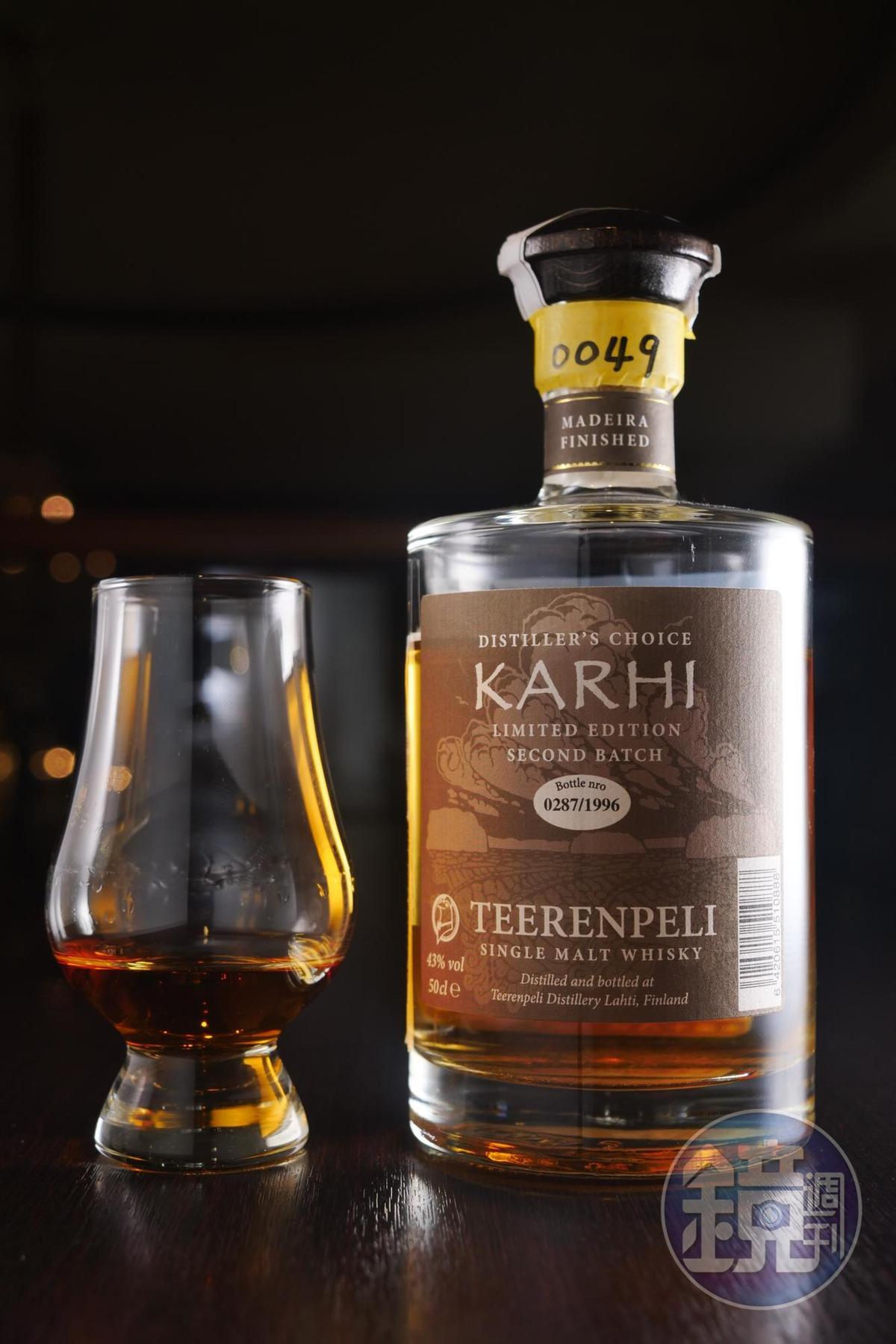 來自耶誕老人故鄉芬蘭的「泰倫貝利單一麥芽威士忌馬德拉桶」。(500元/單杯、30ml)