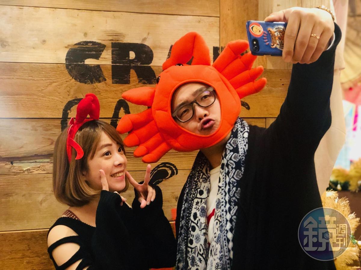 餐廳有各式逗趣的海鮮頭套可供客人穿戴拍照。