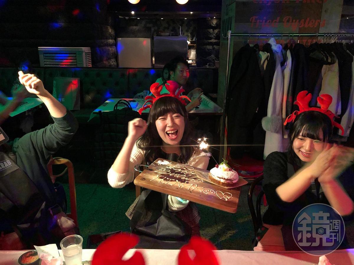 來這裡慶生的壽星不但可以讓全場一起慶祝,也會獲得一個特製小甜點。