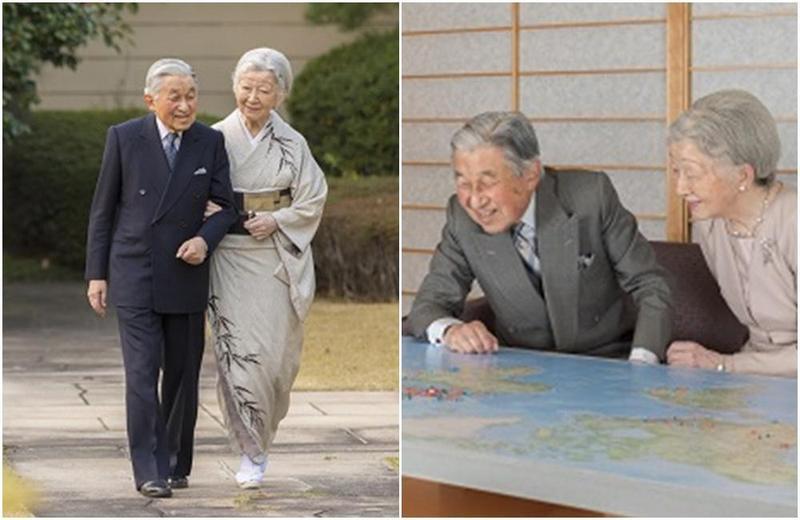 日本明仁天皇和皇后美智子,在位最後一次接受民眾賀壽。(翻攝自日本宮内庁網站)