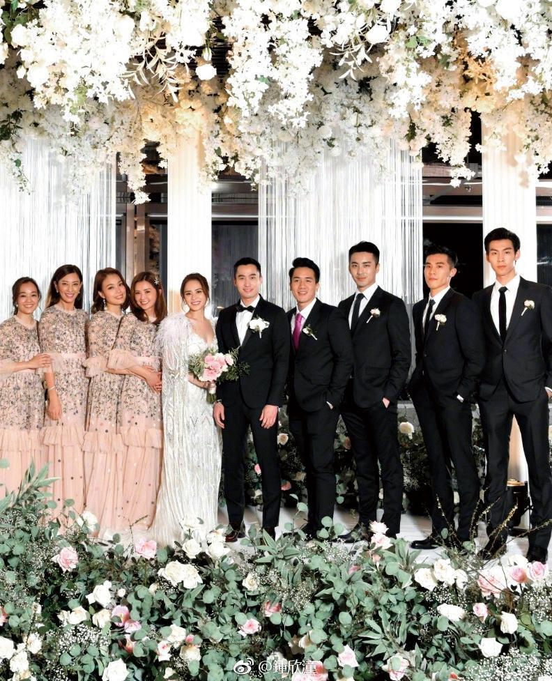 鍾欣潼和賴弘國在香港辦婚宴,非常風光。(翻攝鍾欣潼微博)