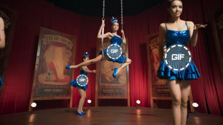 蔡依林演唱會各項體操絕技讓人津津樂道。(翻攝自蔡依林〈怪美的〉MV)