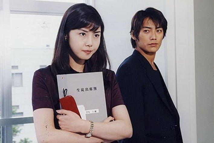 日本女星松嶋菜菜子與反町隆史當年合作《麻辣教師GTO》結婚,近傳18年婚變。(網路圖片)