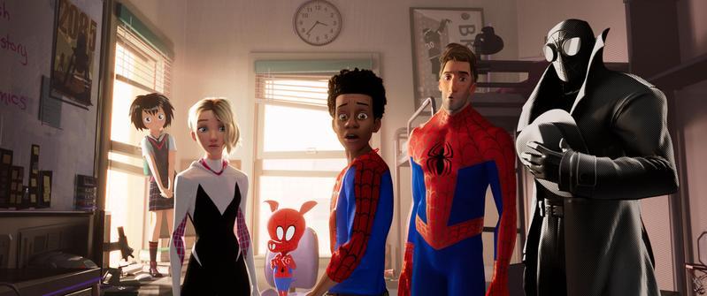 富比士評選2018年9部超級英雄電影,由《蜘蛛人:新宇宙》拿下最佳超英電影。(索尼提供)