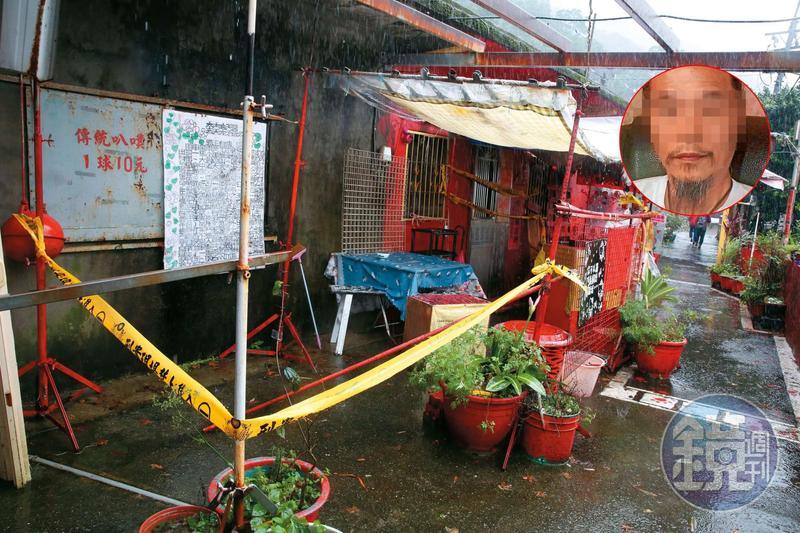 2名死者陳屍在侯硐貓村自宅房間內,房子鮮紅色的外牆格外引人注目。