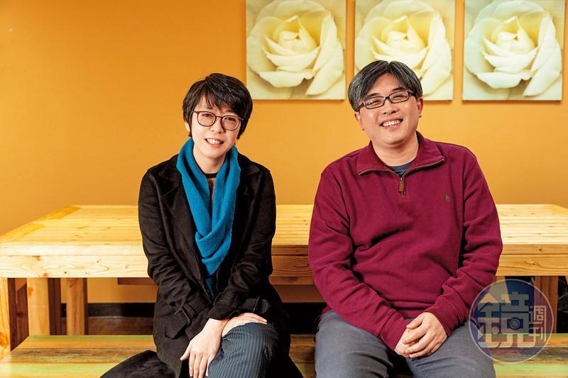 公視節目部經理於蓓華(左)催生新創電影,鼓勵多元類型作品,對陳思宇(右)製作、編劇的《疑霧公堂》感到很驚喜。