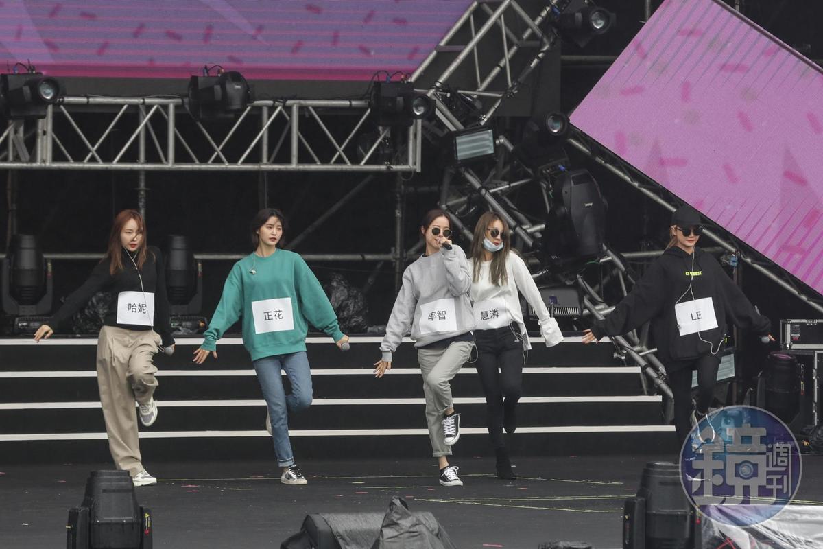 EXID終於全體在台灣表演,讓粉絲非常期待。