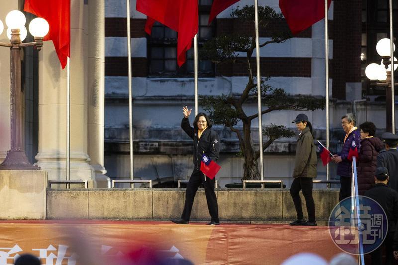 總統蔡英文於新年談話中公佈新的一年政府努力的目標。