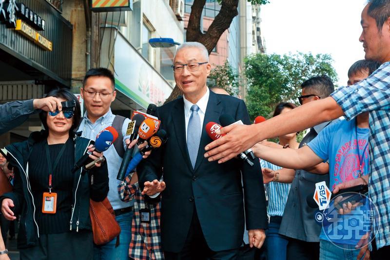 民進黨九合一選舉大敗,新北市長朱立倫卸任後隨即宣布投入總統大選,國民黨主席吳敦義則是鴨子划水。