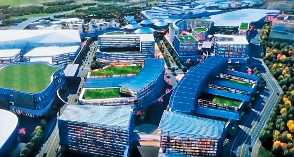 第二任市長任期,鄭文燦期盼桃園航空城、亞洲矽谷計畫都能有實質進展。(航空城圖片翻攝自YouTube)