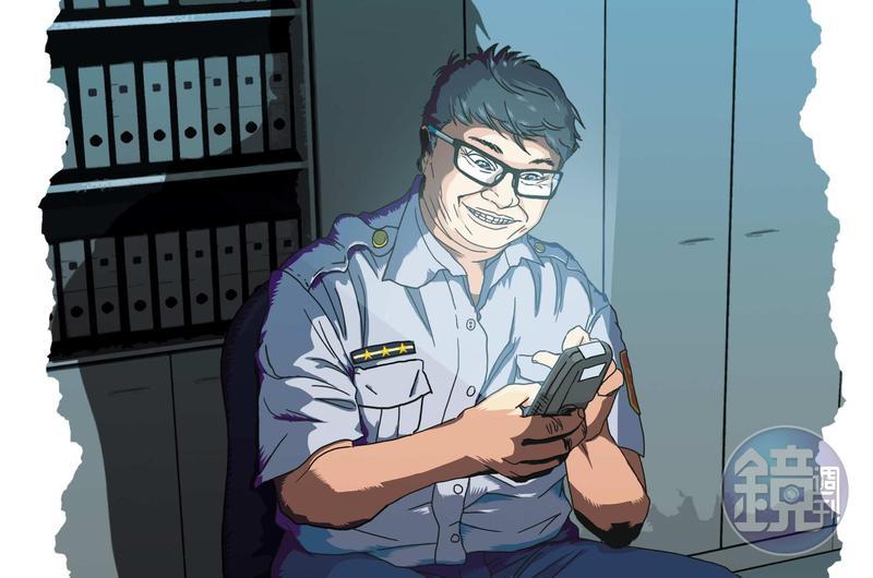 黃姓員警涉嫌利用職務之便,以警用電腦查詢分局同仁個資近千筆。