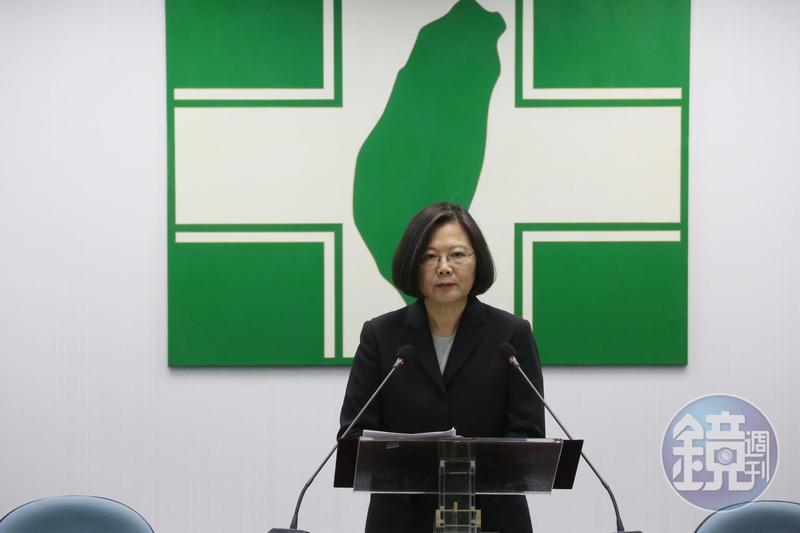 總統蔡英文強調,台灣始終未接受九二共識,絕不會接受一國兩制。