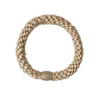 昆凌綁的L. Erickson 彈力髮圈,是香檳金顏色。NT$85(翻攝自品牌官網)