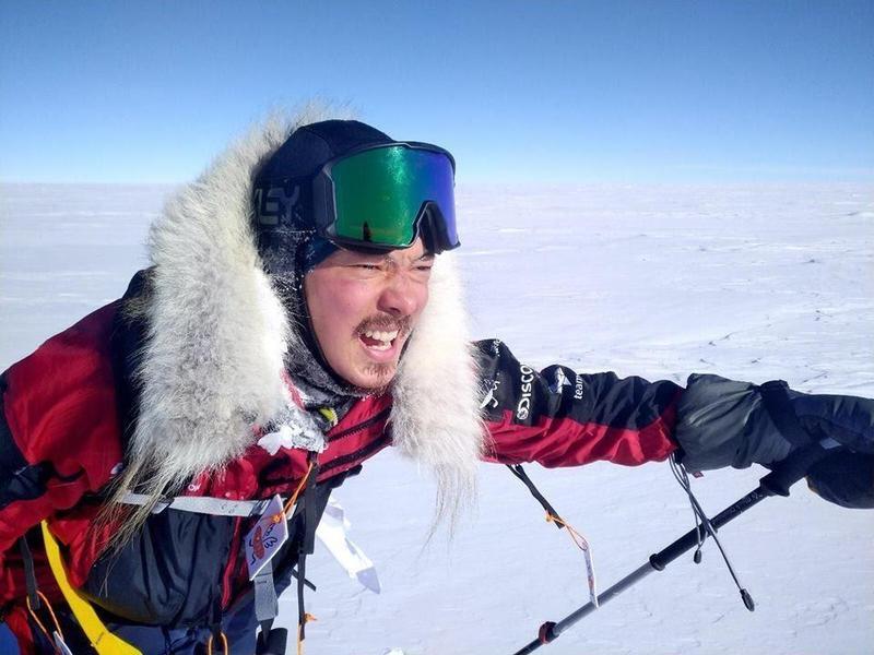 宥勝剛成為亞洲第一支越野滑雪長征南極點隊員,尚未返回台灣。(翻攝自宥勝之旅臉書)