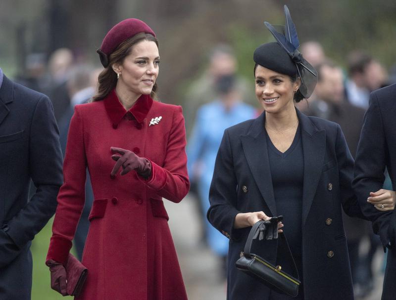 凱特與梅根兩位王妃為英國王室注入新活力,兩人之間的關係也成了外界好奇關注的焦點。(東方IC)