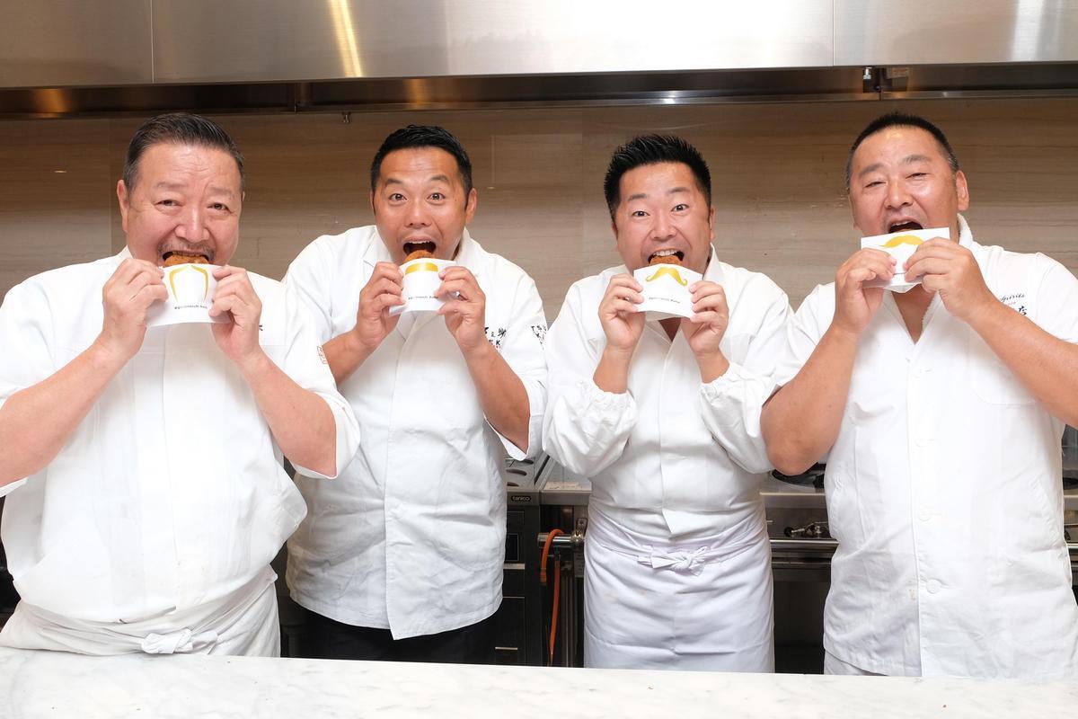 集結(左起)千葉憲二、金子真也、辻田雄大、田中剛四位日本社長合作的「金葉國際餐飲集團」首站選擇落腳台灣。(圖/金葉國際餐飲)